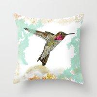 Hummingbird Ayre Serene … Throw Pillow