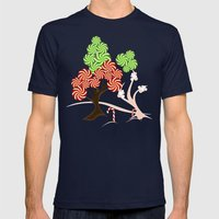 Magic Candy Tree - V1 Mens Fitted Tee Navy SMALL