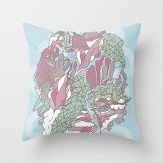 Dream Town Throw Pillow