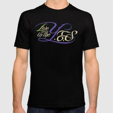 Live In The YES Logo SMALL Black Mens Fitted Tee