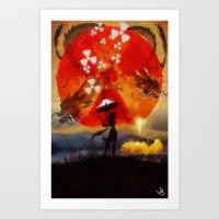 Umbrellaliensunshine: Sp… Art Print