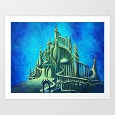 Mysterious Fathoms Below Art Print
