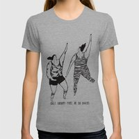 Happy Womens Fitted Tee Athletic Grey SMALL