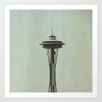 seattle Art Prints featuring Seattle by Leah Flores