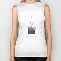 Mr. Rabbit and the Mad Hatter hat Biker Tank