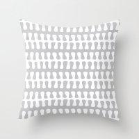Seaweed Strand grey & white Throw Pillow