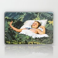 Laptop & iPad Skin featuring Rising Mountain by Eugenia Loli