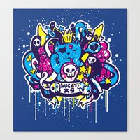 Unlucky Kitty Canvas Print