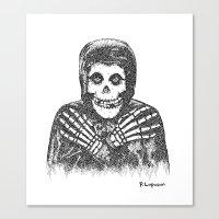 Crimson Ghost Canvas Print