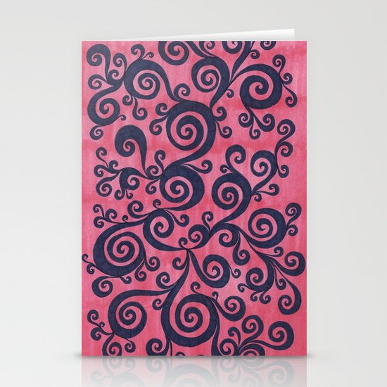 Blueberry Bubble Gum Stationery Card