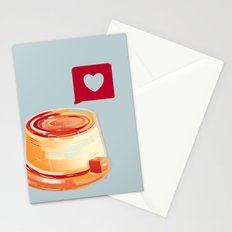 Caramel Heart Flan Stationery Cards