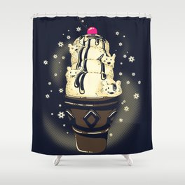Shower Curtain - Ice Cream Bears (Dark Blue) - Tobe Fonseca