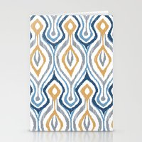 Sketchy Ikat - Saddle Stationery Cards