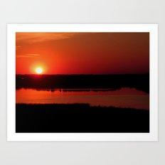 The Setting Sun Art Print