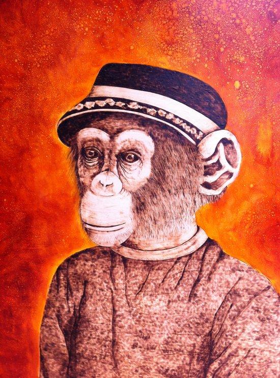Mr. C the Chimp Art Print