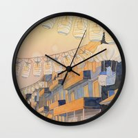 Discovery At Dusk Wall Clock