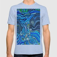 HIGH WATER Mens Fitted Tee Athletic Blue SMALL