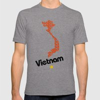 Vietnam, Come for Peace Mens Fitted Tee Tri-Grey SMALL