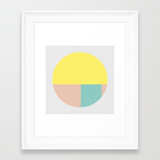 Pastel collection I Framed Art Print