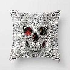 Lace Skull Light Throw Pillow