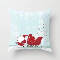 Happy Santa Throw Pillow