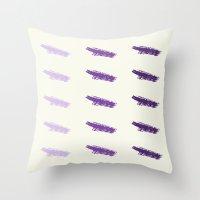 Monochrome Purple Throw Pillow