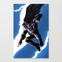 A Dark and Stormy Knight Canvas Print