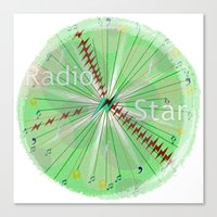 Radio Star Canvas Print