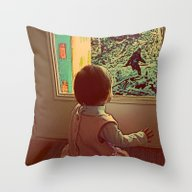 Throw Pillow featuring Hello Bigfoot! by Silvio Ledbetter