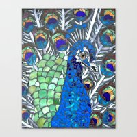 Small Peacock Canvas Print