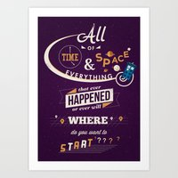 doctor who Art Prints featuring Time and Space by Risa Rodil