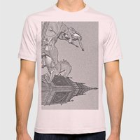 Big Ben And Boadicea Mens Fitted Tee Light Pink SMALL