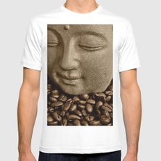buddha coffee 2 Mens Fitted Tee SMALL White