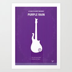No124 My PURPLE RAIN minimal movie poster Art Print