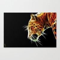 Fractal Leopard Canvas Print