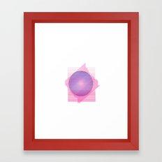 Universe in blue&pink Framed Art Print