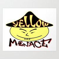 Yellowmenace brand logo Art Print