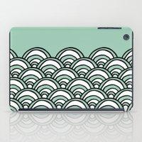 Waves Mint iPad Case