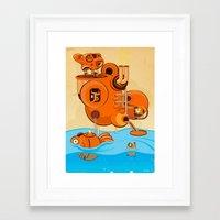 hello sailor Framed Art Print