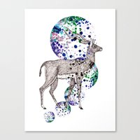 Bubble Antelope Canvas Print