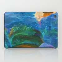 Abstract beautiful rock pools in the late afternoon iPad Case