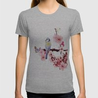 Spring Womens Fitted Tee Athletic Grey SMALL