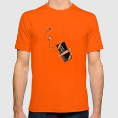 Snitch Mens Fitted Tee Orange SMALL