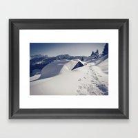 Hiking In Leysin Framed Art Print