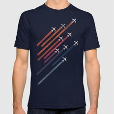 Aerial Display (ver.2) Mens Fitted Tee Navy SMALL