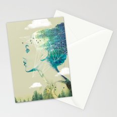 Geo Forest Stationery Cards