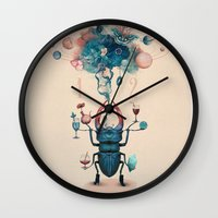 funny beetle Wall Clock