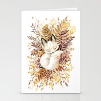 anime Stationery Cards featuring Slumber by Freeminds