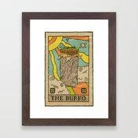 The Burro. Framed Art Print