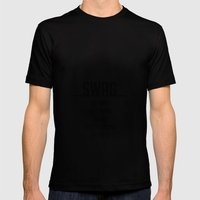 SWAG - the most used word in the whole fucking universe Mens Fitted Tee Black SMALL